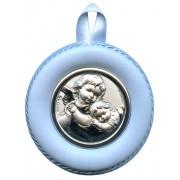 "Crib Medal Guardian Angel Blue cm.8.5- 3 1/4"""