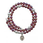 Wraparound Rosary Bracelet mm.6 Garnit