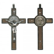 "St.Benedict Wood Crucifix cm.8- 3"" Boxed"