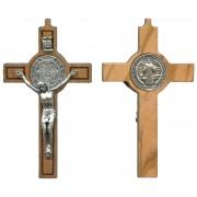 "St.Benedict Olive Wood Crucifix cm.8-3"" Boxed"