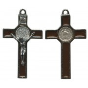 """St.Benedict Crucifix Enamelled Silver Plated cm.5 - 2"""""""