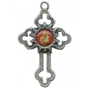 St.Anthony Oxidized Metal Cross mm.40 - 1 1/2""
