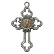 St.Anne De Beaupre Oxidized Metal Cross mm.40 - 1 1/2""