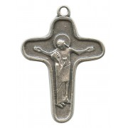Mother Theresa Cross Oxidized Metal mm.34 - 1 1/4""