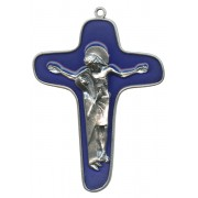 """Enamelled Mother Theresa Cross Oxidized Metal mm.86 - 3 1/2"""""""