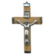 "Wood Crucifix Natural mm.35- 1 3/8"""