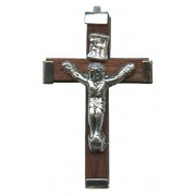 "Wood Crucifix Brown mm.35- 1 3/8"""