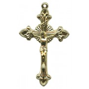 Gold Plated Metal Crucifix mm.53 - 2 1/8""