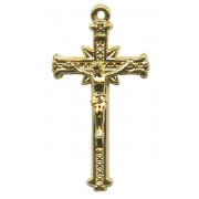 Crucifix Gold Plated Metal mm.35- 1 3/8""