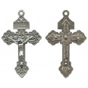 Pardon Cross Oxidized Metal Crucifix mm.57- 2 1/4""