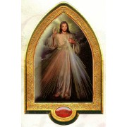"English Divine Mercy Gold Leaf Picture Frame Vault cm.22x33.5- 8 1/2""x 13 1/4"""