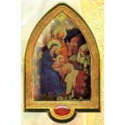 "English Nativity Gold Leaf Picture Frame Vault cm.22x33.5- 8 1/2""x 13 1/4"""