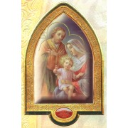 "English Holy Family Gold Leaf Picture Frame Vault cm.22x33.5- 8 1/2""x 13 1/4"""