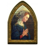 "Lippi Gold Leaf Picture Frame Mini Vault cm.18.5x13.5 - 7 1/4""x5 1/4"""