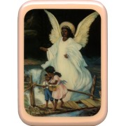 "Pink Frame Guardian Angel Plaque cm. 21x29- 8 1/2""x 11 1/2"""