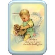 "Blue Frame Baby is God's Way Plaque cm. 21x29- 8 1/2""x 11 1/2"""