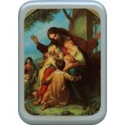 "Jesus with Children Plaque cm. 21x29- 8 1/2""x 11 1/2"""