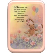 "Pink Frame God Bless This Child Plaque cm. 21x29- 8 1/2""x 11 1/2"""