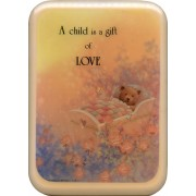 "Pink Frame A Child is a Gift of Love Plaque cm. 21x29- 8 1/2""x 11 1/2"""