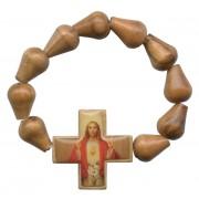 Olive Wood Elastic Decade Rosary mm.5