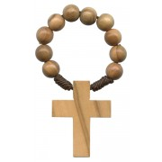 Olive Wood Cord Decade Rosary mm.5