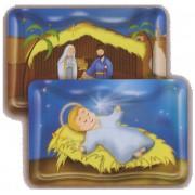 "Baby Jesus/ Nativity 3D Bi-Dimensional Cards cm5.5x 8.2 - 2 1/8""x3 1/4"""