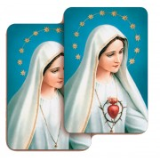 "Immaculate Heart of Mary 3D Bi-Dimensional Cards cm5.5x 8.2 - 2 1/8""x3 1/4"""