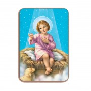 "Baby Jesus 3D Bi-Dimensional Cards cm5.5x 8.2 - 2 1/8""x3 1/4"""