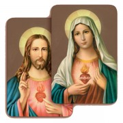 Sacred Heart of Jesus / Immaculate Heart of Mary 3D Bi-Dimensional Cards