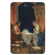 "Nativity and Sheep Fridge Magnet cm.4x6 - 2 1/2""x 4 1/4"""