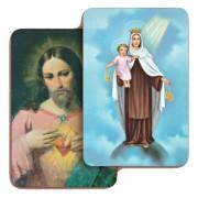 "Sacred Heart of Jesus/ Madonna 3D Bi-Dimensional Cards cm.5.5x8.2- 2 1/8""x 3 1/4"""