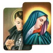 """Addolorata/ St.Gabriele 3D Bi-Dimensional Cards cm.5.5x8.2- 2 1/8""""x 3 1/4"""""""