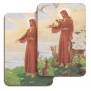 "St.Francis 3D Bi-Dimensional Cards cm.5.5x8.2- 2 1/8""x 3 1/4"""