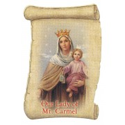 "Our Lady Mt Carmel Fridge Magnet cm.5x8- 2""x 3 1/4"""