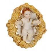 """Baby Jesus with Crib Pvc Statue cm.4 - 1/2"""""""