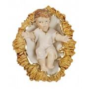 """Baby Jesus with Crib Pvc Statue cm.6- 2 1/2"""""""