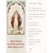 "The Lord's Prayer Bookmark cm.6x15.5- 2 1/2""x 6 1/8"""
