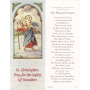 "St.Christopher the Motorist's Prayer Bookmark cm.6x15.5- 2 1/2""x 6 1/8"""