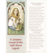 "Prayer in Honour of St.Dymphna Bookmark cm.6x15.5- 2 1/2""x 6 1/8"""