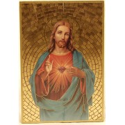 "Sacred Heart of Jesus Plaque cm.15.5x10.5 - 6""x4"""