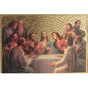 "Last Supper Plaque cm.15.5x10.5 - 6""x4"""