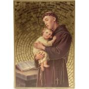 """St.Anthony Plaque cm.15.5x10.5 - 6""""x4"""""""