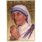 "Mother Theresa Plaque cm.15.5x10.5 - 6""x4"""