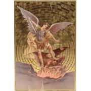 """St.Michael Plaque cm.15.5x10.5 - 6""""x4"""""""