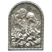 "Nativity Pewter Picture Free Standing cm.5.5x4 - 2 1/4""x 1 5/8"""