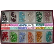 Bohemia Crystal Rosary Birthstone mm.5 Display of 12