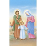 "Holy card of Holy Family cm.7x12- 2 3/4""x 4 3/4"""