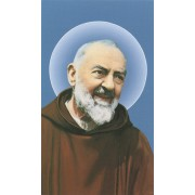 "Holy card of Padre Pio cm.7x12- 2 3/4""x 4 3/4"""