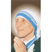 "Holy card of the Mother Theresa cm.7x12- 2 3/4""x 4 3/4"""