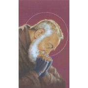 """Holy card of Padre Pio cm.7x12- 2 3/4""""x 4 3/4"""""""